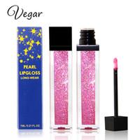 Vegar Brand Diamond Shine Metallic Lipstick Charming Long Lasting Tattoo Liquid Lipstick Glitter Powder Lip Gloss