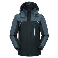 Más el tamaño de la chaqueta de esquí de los hombres a prueba de viento  traje 0078de0fb4d