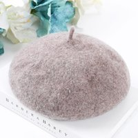 EPU- MH1899 Knit Blend Color Wool Beret Winter warm Girl Arti...