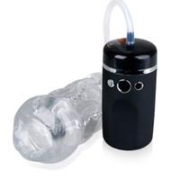Männliche Masturbationschale saugen Spielzeug USB Wiederaufladbare Oral Sex Aircraft Cup elektrische vibrierende Masturbator Blowjob Produkte B2-1-45