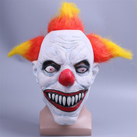 Color Hair Scary Latex 1990 Stephen King' s It Clown Pen...