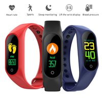 Sport Smart Band Heart Rate Fitness Tracker Tracker Blood Pressure Monitor Schermo LCD a colori M3 Smart Wristband per iOS 8.0 Telefono Android