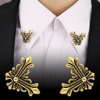 Suit broş erkek ceket çapraz broş prim gömlek yaka toka yaka pin alaşım pin aksesuarları