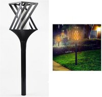 LED Solar Lawn Light 96led Dancing Flame Flickering Light Wa...