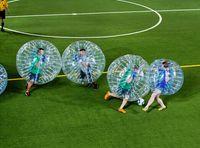 Di trasporto della bolla della sfera di calcio, Dia 5 ft (1,5 m) Hamster sfera umana, spessa 0,8 millimetri PVC trasparente gonfiabile Bumper Ball sfera di Zorb