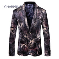 Prom suits for men, tiger pattern jacquard fabric, gentleman...