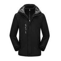 2018 пешие прогулки куртка мужская водонепроницаемый Сноуборд толстовки открытый горные лыжи костюм для мужчин 3 в 1 тепловой кемпинг куртки
