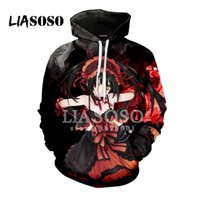 LIASOSO 2018 3D Print Women Men Hooded Hoodies Anime DATE A ...