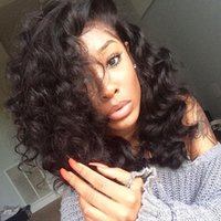 Short Curly Human Hair Wigs Full Lace wig Lace Front Short C...