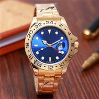 Red pointer Luxury New Gent' s GMT II quartz Self Wind W...