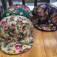 Caps Nuovo Snapbacks esterna Tempo libero Sunhats uomo Donne per il tempo libero con motivi floreali di Hip Hop 7 8LP Ww