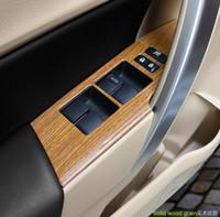 Alta calidad 4pcs interruptor de la puerta del coche ventana del ascensor interno botón del panel de desgaste protectora, cubierta decoración para Toyota Corolla 2014-2017