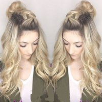 Free Shipping 26inch Ombre Blonde#27 Synthetic Fiber Hair Lo...