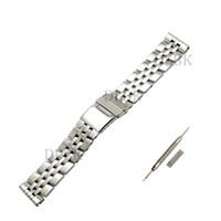 22mm 24mm Erkekler Tam Cilalı Katı Paslanmaz Çelik Watch Band Kayışı Katlanır Güvenlik Toka Bilezik Aksesuarları Breitling SUPEROCEAN
