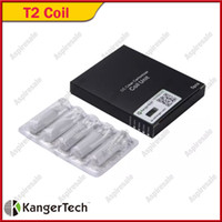 Huge Stock Now!Original Kanger T2 Replacement Coils for T2 CC Clearomizer With Long Wick 1.8ohm/2.2ohm/2.5ohm/2.8ohm