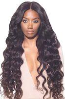 250% de densidad de pelucas frontales de encaje de la densidad onda del cuerpo del cabello humano para las mujeres negras, la peluca frontal del encaje del pelo virgen brasileño premium sin fines completos