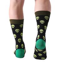 Cadılar bayramı 5 çift / grup Moda Erkek Penye Pamuk Uzun Çorap Erkekler Çorap Set Renkli Komik Mutlu Çorap Düğün Çorap Iş Ço ...