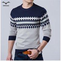 2017 Nueva Marca de Moda de Otoño Suéter Ocasional O-cuello Slim Fit Tejer Suéteres y Suéteres de Los Hombres de Los Hombres Suéteres Hombres XXL L18100803