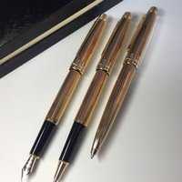 luxury 163 mont pen Meisterstucks golden lines metal Ballpoi...