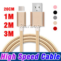 Metal Housing Braided Micro USB Cable 2A Durable High Speed ...