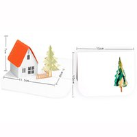 Free shipping 40pcs 3D house tree merry Christmas decoration...