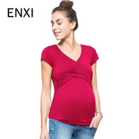 ENXI Women Clothing Pregnant Summer Tees Woman Clothes Mater...