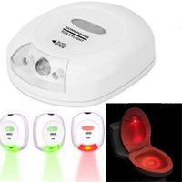 El sensor de movimiento LED WC activado luz de la noche, de pilas, 2 colores de asiento de inodoro de luz se adapta a cualquier WC