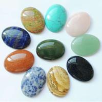 Art und Weise sortierte 30 * 40mm natürliche ovale Steinkorne Charme gemischte KABEL CABOCHON für die Schmucksachen, die 10pcs / lot bilden