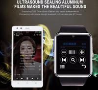 QAQFIT ساعة ذكية بلوتوث Uomini GT08 شاشة تعمل باللمس Grande Supporto batteria TF Sim Card Della Fotocamera Per IOS iPhone Android telef