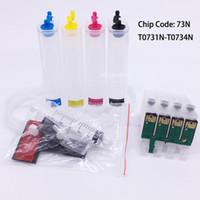 Sistema vazio da tinta de T0731N CISS com a microplaqueta para Epson T10 T11 T20 T21 T40W TX220 TX20 C79 CX8300 CX5500