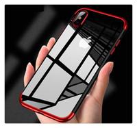 حافظة تي بي يو سيليكون شفافة ناعمة لهواتف ايفون 8 ، 8 بلس 6S ، مقاومة للصدمات لهاتف جالاكسي نوت 8 S9 بلس S8 كرادل ديزاين