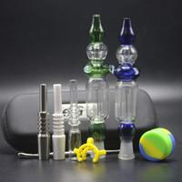 Vente en gros 10 mm 14 mm 18 mm NC Kit Avec Ego Sac pointe en céramique 100% Quartz Nail Joint CSYC paille grâce verre pipe à eau