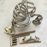 Male Chastity Belt Stainless Steel Chastity Cage Metal Penis...
