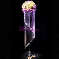 Fast Shipping 10pcs Lot Acrylic Crystal Wedding Lead Road Ta...