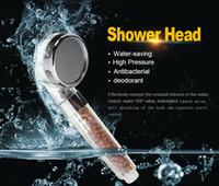 Cabezales de ducha de baño Booster ABS Plástico SPA Cabezal de ducha de aniones Ahorro de agua Cabezal de ducha de lluvia de alta presión de mano Cabina de ducha