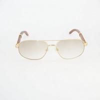 Homens Sunglasses Vintage Madeira Sun Glasses por Homens Masculino Óculos Acessórios Óculos Limpar Óculos Sombra 736