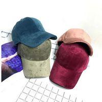 Venda quente Todos Os Combinar Tampas de Veludo Sólida Estilo Coreano Unisex Moda Tampas de Beisebol Amantes de Outono Inverno Caps Chapéus de Sol Frete Grátis