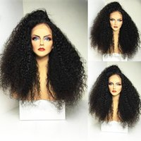 Hot Selling Black Afro Kinky Curly Wigs with Baby Hair 180% ...
