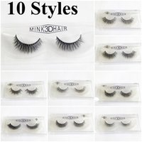 10 Styles 3D Mink False Eyelashes Makeup Handmade False Lash...