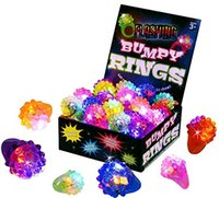Flashing LED Light Up Toys, Bumpy Rings, Party decorations, b...