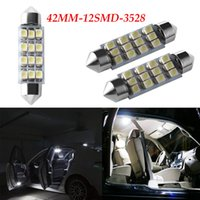 Pure White 42mm C5W Canbus 12SMD 2835SMD Automobile LED Doub...