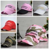 아메리카를 다시 만드는 모자 자수 트럼프 공화당 스포츠 스포츠 모자 야구 모자 미국 국기 파티 모자 CCA10588 50PCS