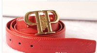 stock Brand red color P Letter high Quality ceinture Genuine...