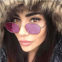 Wholesale- New Fashion Hexagon metal Sunglasses Women Men Ne...