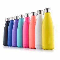 500 ملليلتر كاندي اللون فراغ زجاجة المياه الترمس كوب جودة عالية الرياضة المقاوم للصدأ السفر القهوة القدح أفضل قوارير معزول
