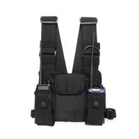 Radio Chest Harness Nylon Brust vorne Packung Beutel-Pistolenhalfter Vest Rig Carry Cade für Baofeng UV-5R UV-82 888S TYT Wouxun Motorola Walkie Talkie