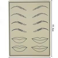 Permanent Makeup Augenbrauen Tattoo Praxis Haut Gefälschte Praxis Haut Für Microblading Tattoo Maschine Einfach Für Den Einsatz