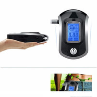 2018 Profesyonel Mini Polis Dijital LCD Ekran Breath Alkol Tester Breathalyzer Patent AT6000 güncelleme sürümü Alcoholimetro