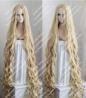 150 CM Uzun Dalgalı Kıvırcık Peruk Occident Pastoral Tarzı Mix Sarışın Cosplay Peruk Saç