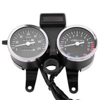 Calibrador de tacómetros del odómetro del velocímetro LED modificado de la motocicleta para Suzuki GN125